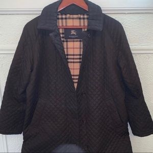 Burberry Black Quilted Coat in 6P